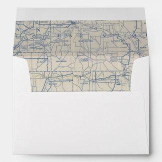 Wisconsin Bicycle Road Map 6 Envelope