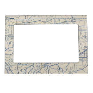 Wisconsin Bicycle Road Map 6 Magnetic Frame