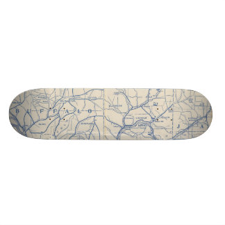 Wisconsin Bicycle Road Map 6 Skateboard Deck