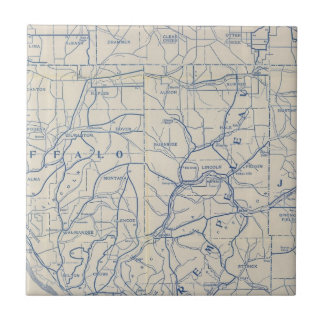 Wisconsin Bicycle Road Map 6 Tile