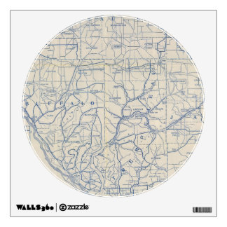 Wisconsin Bicycle Road Map 6 Wall Decal