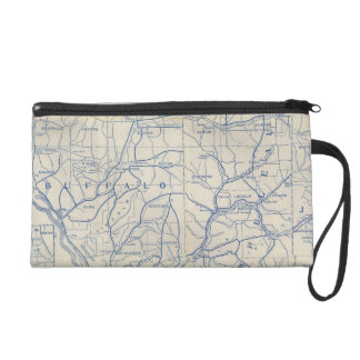 Wisconsin Bicycle Road Map 6 Wristlet Purse