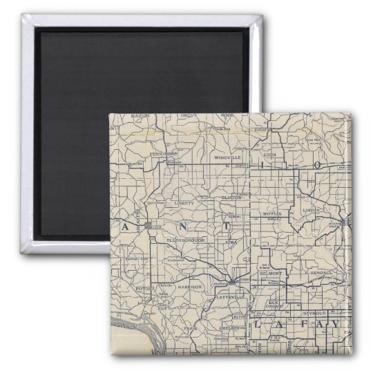 Wisconsin Bicycle Road Map 8 Magnet