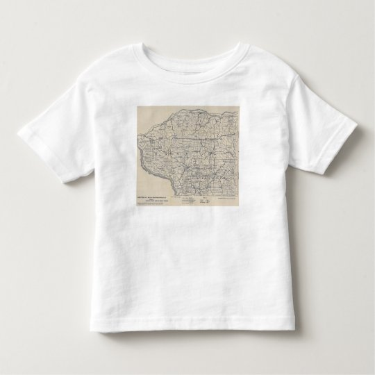 Wisconsin Bicycle Road Map 8 Toddler T-shirt