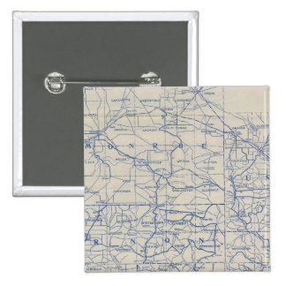Wisconsin Bicycle Road Map Button