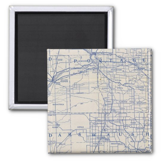 Wisconsin Bicycle Road Map Magnet