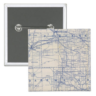Wisconsin Bicycle Road Map Pinback Button