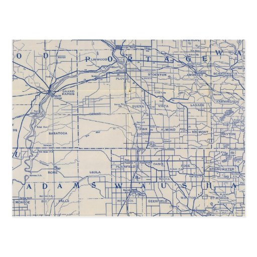 Wisconsin Bicycle Road Map Post Cards