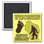 Wisconsin Bigfoot Research 2 Inch Square Magnet