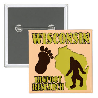 Wisconsin Bigfoot Research Buttons