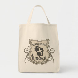 Grocery Tote with Wisconsin Birder design