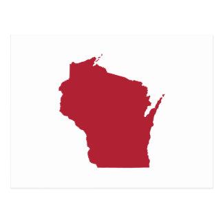 Wisconsin blanco y rojo tarjetas postales