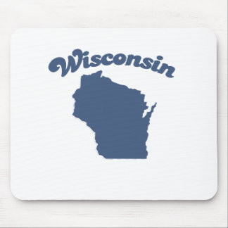WISCONSIN Blue State Mousepads