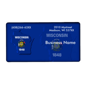 Wisconsin Business Label Shipping Label