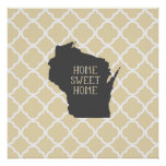 Wisconsin casero dulce casero poster