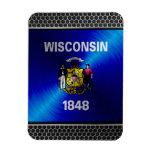 Wisconsin cepilló la bandera del metal iman