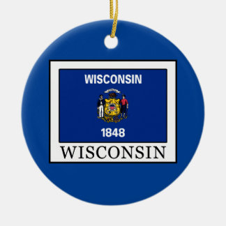 Wisconsin Ceramic Ornament