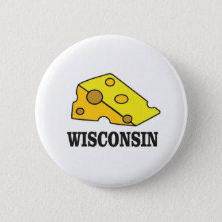 Wisconsin cheese head pinback button