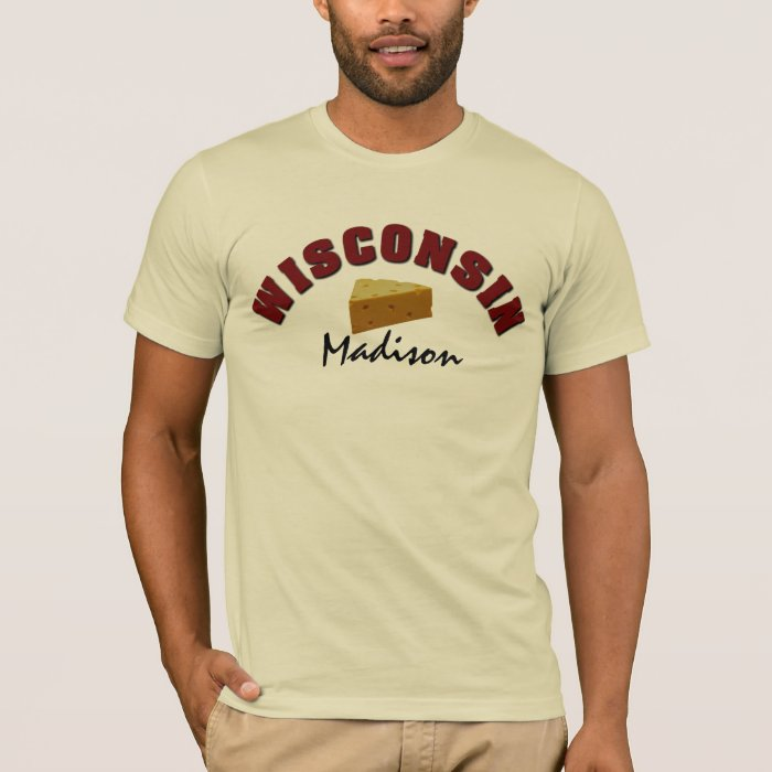 Wisconsin Cheesehead Custom Town T-Shirt