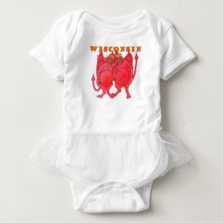 Wisconsin Cheesehead Demons Baby Bodysuit