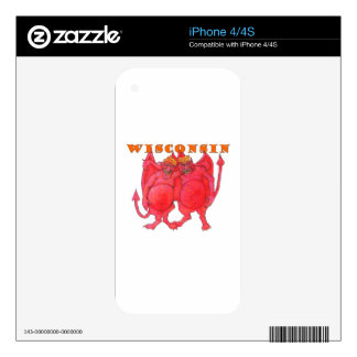 Wisconsin Cheesehead Demons iPhone 4 Decal