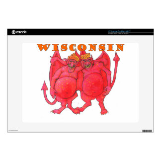 Wisconsin Cheesehead Demons Skin For Laptop