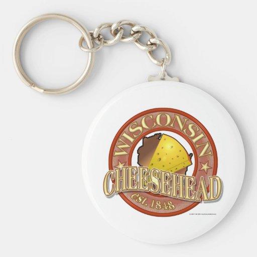 Wisconsin Cheesehead Seal Basic Round Button Keychain