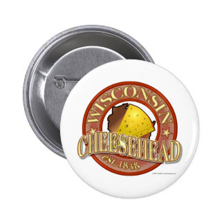 Wisconsin Cheesehead Seal Button