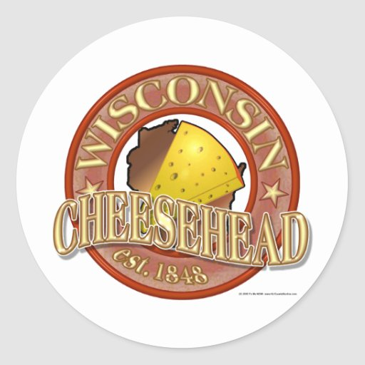 Wisconsin Cheesehead Seal Classic Round Sticker
