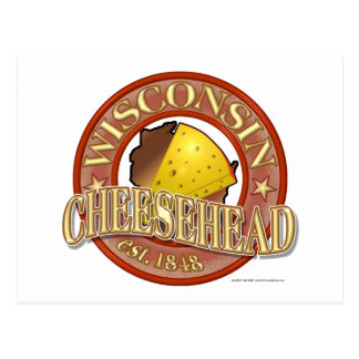 Wisconsin Cheesehead Seal Postcard