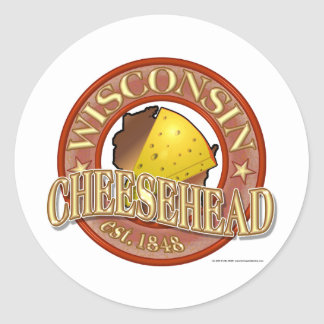Wisconsin Cheesehead Seal Stickers