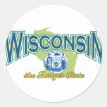 Wisconsin Classic Round Sticker