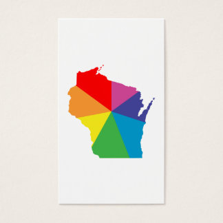 wisconsin color burst business card