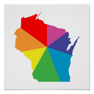 wisconsin color burst poster
