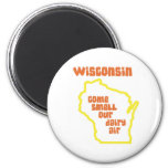 Wisconsin Come Smell Our Dairy Air Fridge Magnet