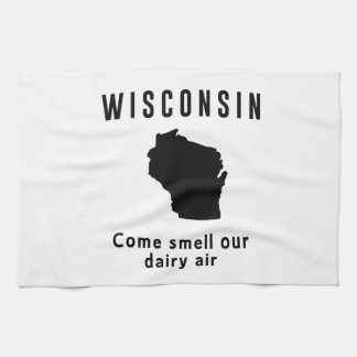 Wisconsin Come Smell Our Dairy Air Kitchen Towels