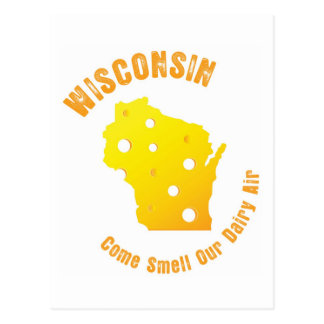 Wisconsin Come Smell Our Dairy Air Postcard