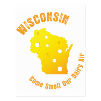 Wisconsin Come Smell Our Dairy Air Postcards