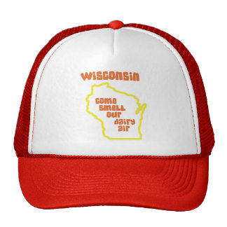 Wisconsin Come Smell Our Dairy Air Trucker Hat