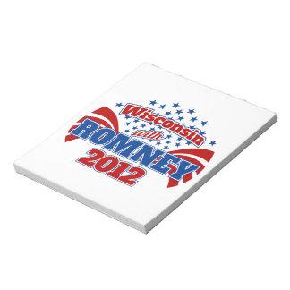 Wisconsin con Romney 2012 Libretas Para Notas