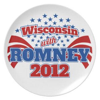 Wisconsin con Romney 2012 Plato