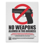 Wisconsin Concealed Carry Sign - Business Print