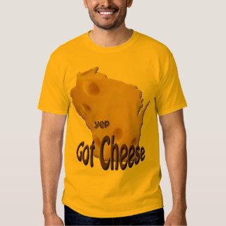 Wisconsin consiguió a queso la camiseta para camisas