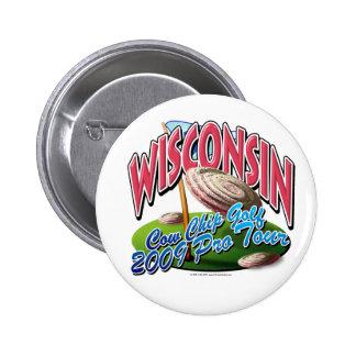Wisconsin Cow Chip Golf Button