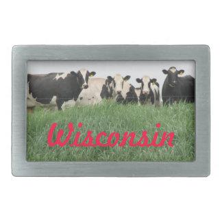 Wisconsin Cows Belt Buckle