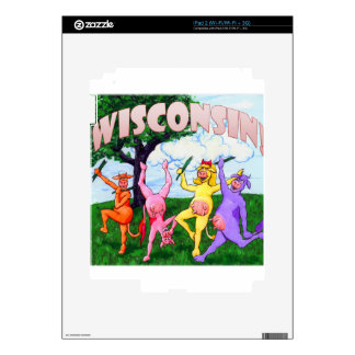 Wisconsin Cows Frolic Decal For The iPad 2
