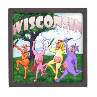 Wisconsin Cows Frolic Keepsake Box