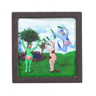 Wisconsin Cows Leaping Gift Box