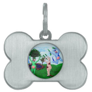 Wisconsin Cows Leaping Pet ID Tag