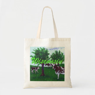 Wisconsin Cows Tote Bag